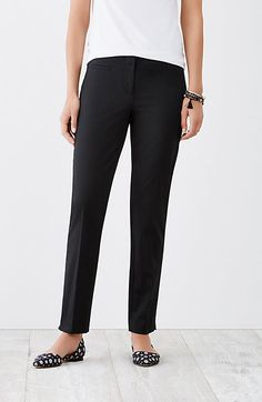 perfect cotton-stretch ankle pants