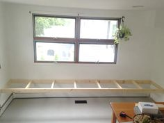 Building in a Bench – Plaster & Disaster Window Storage Bench, Diy Bench Seat, Wall Bench, Storage Bench Seating, Window Benches, Wall Seating, Dining Bench With Storage, Window Seats, Bench Under Windows