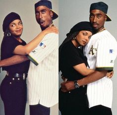 Tupac and Janet Jackson Hip Hop And R&b, 90s Hip Hop, 1990s Fashion Hip Hop, Dave Rapper, Black Couples Goals, Couple Goals, Tupac Pictures, Senegalese Twist Styles, Poetic Justice