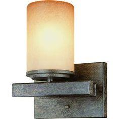 Hampton Bay, Alta Loma 1-Light Dark Ridge Bronze Bath Light, 25054 at The Home Depot - Mobile