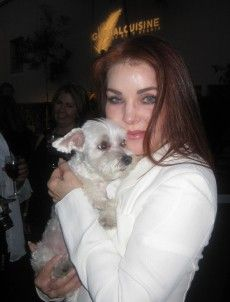 Priscilla Presley got Lucky! http://animalfair.com/home/lucky-diamond-friend/