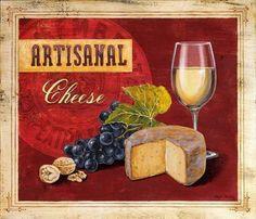 Angela-Staehling-Artisanal-Wine-Cheese-Fertig-Bild-24x30-Kaese-Kueche-Wein-Deko