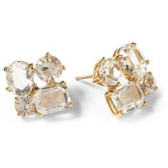 Kate Spade New York Cluster Studs ❤ liked on Polyvore featuring jewelry, earrings, accessories, jóias, clear, clear earrings, cluster stud earrings, stud earrings, cluster jewelry and clear stud earrings