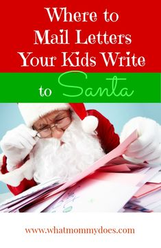 can mail a letter to Santa?!! What exactly is Santa's actual address ...