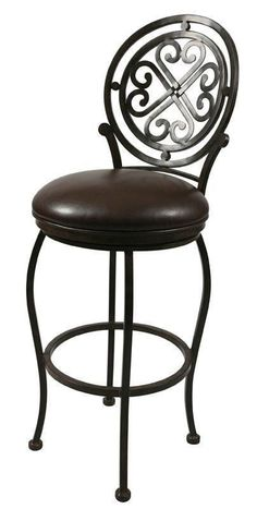 """Pastel Furniture Island Falls 26"""" Barstool without arms in Autumn Rust upholstered in Ford Brown"""