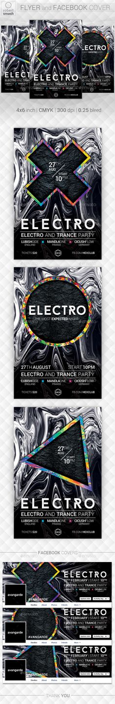 Psychedelic Music Flyer  — PSD Template • Only available here ➝…