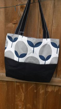 Tote Bag Beach Bag Summer Bag Holiday Bag by JohnstonsHandmade