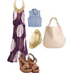 Maxi dress, created by shinobipixie on Polyvore