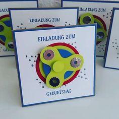 #spinner #einladungskarten #einladung #kindergeburtstag #su #stampinupdeutschland #stampinupdemo #ratzisbastelküche #papierbasteln #kartenbasteln #stempeln #stamping #spinners