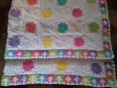"""Image only ~ My newest blanket which I've named """"Sherbet""""  ~ Mina"""