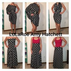 6 ways to wear the LulaRoe maxi skirt #outfits LulaRoe Amy Hatchett
