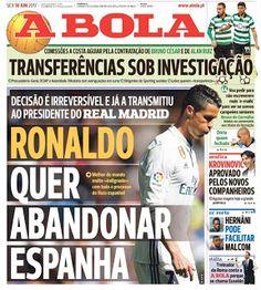Blog Esportivo do Suíço:  Jornal: acusado de sonegação fiscal, Cristiano Ronaldo quer deixar a Espanha