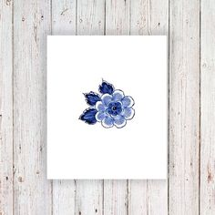 This little Delft Blue floral temporary tattoo is super cute and would look amazing on your arm or wrist!