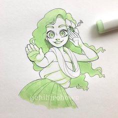 Dancer Drawing, Human Drawing, Copic Marker Drawings, Marker Art, Disney Drawings, Cute Drawings, Polynesian Girls, Image Princesse Disney, Copic Art