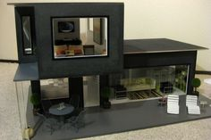 Modern architecture in a dollhouse.