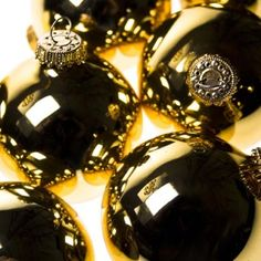 Krebs Aztec Gold Glass Baubles - 8 x 67mm
