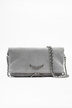 lala berlin zadig and voltaire bag suede Grey Leather, Cow Leather, Uñas Fashion, Popular Bags, Suede, Cute Bags, Fashion Handbags, Clutch Bag, Leather Backpack