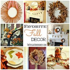favorite fall decor ideas the frugal homemaker - Fall Decorations For Sale