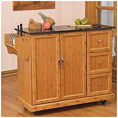 Gentil Bamboo Kitchen Cart At Big Lots.