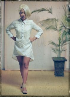 Shop VINTA Gallery modern Filipiniana dresses, terno dresses, Filipino-inspired tops and custom couture garments. Barong Tagalog For Women, Modern Filipiniana Dress, Baptism Outfit, Couture Fashion, White Dress, High Neck Dress, My Style, Womens Fashion, Outfits