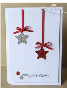 This holiday season hand out these DIY Christmas Cards to your loved ones and tell them how much you care. These Handmade Christmas cards are easy & cheap. Homemade Christmas Cards, Christmas Cards To Make, Simple Christmas, Christmas Greetings, Homemade Cards, Holiday Cards, Diy Christmas Cards Stampin Up, Xmas Cards Handmade, Elegant Christmas