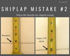 Learn from my mistakes and get a professional looking finish on your next faux shiplap room or DIY home improvement project. Home Improvement Projects, Home Projects, Pallet Projects, Home Renovation, Home Remodeling, Installing Shiplap, Shiplap Ceiling, Faux Shiplap, Shiplap Diy