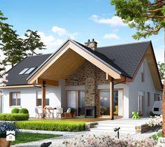 Projekt domu Simon (mały) G2 - widok od strony ogrodu - zdjęcie od Pracownia Projektowa ARCHIPELAG