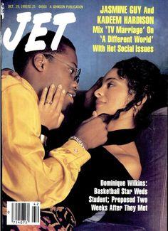 A Different World. Jasmine Guy and Kadeem Hardison Jet Magazine, Black Magazine, Black Love, Black Is Beautiful, Dwayne And Whitley, Whitley Gilbert, Jasmine Guy, Black Sitcoms, Black Relationship Goals