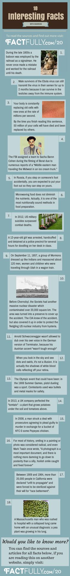 Interesting Facts And Stories - Sources: http://factfully.com/20/