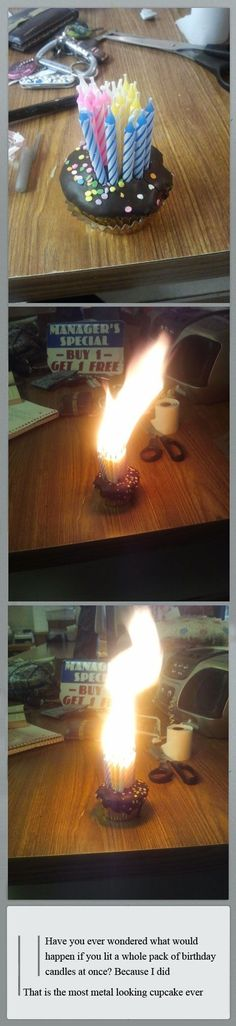 When arson and birthday celebrations look alike.....