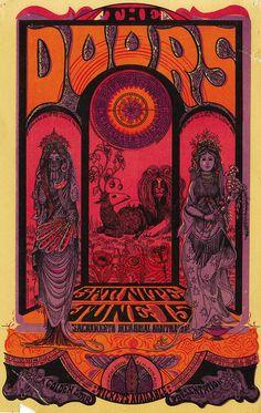 The Doors Psychedelic 1960s concert poster