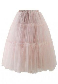 - Multi mesh tulle pom pom style skirt -