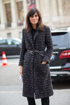 Street Style Haute Couture Spring 2015- Emmanuelle Alt