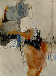 """Ceci n'est pas un collage by Jinnie May Mixed Medium ~ 30"""" x 22"""""""