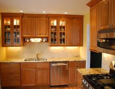 light cherry cabinets what color countertops | well coupled cherry cabinets and a light granite countertop ...
