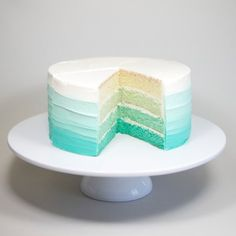 ombre cake by Jemma Wilson of Crumbs and Doilies (Chocolate Color Baby Shower) Pretty Cakes, Cute Cakes, Beautiful Cakes, Yummy Cakes, Amazing Cakes, Sweet Cakes, Cakes To Make, How To Make Cake, Cupcake Jemma