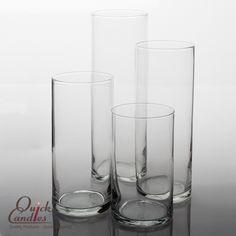 Eastland Cylinder Vase Clear Glass Set of 4- $12.99
