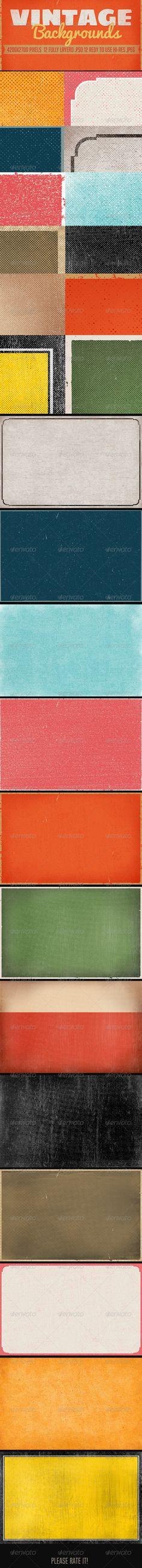 Vintage Backgrounds 4200×2700 px, 300 dpi #design Download: http://graphicriver.net/item/vintage-backgrounds/8089692?ref=ksioks