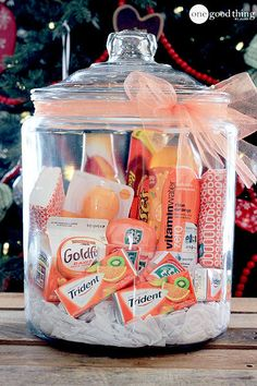 I originally planned on this post being about gift BASKET ideas but the more I thought about it, the more I decided I was sick of baskets. Don't get me wrong...I LOVE baskets! I probably have WAY too many...