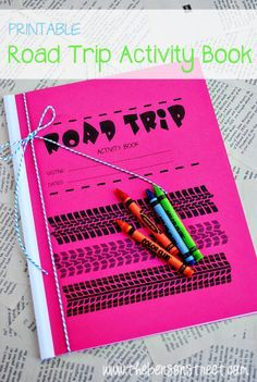 Road Trip Activity Book! We have a 7 hour road trip this weekend, I am going to make the kids their own books to keep them occupied.