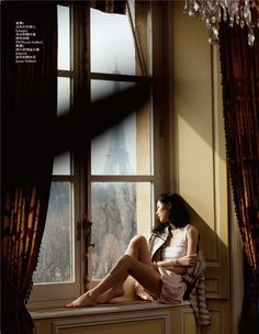 Expanding their horizons, models Liu Wen and Mathilde Frachon take two contrasting trips to Paris and Shanghai for the May edition of Elle China. Window Photography, Portrait Photography, Inspiring Photography, Children Photography, Fashion Photography, Shanghai, Liu Wen, Looking Out The Window, Window View