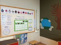 Kalenterinurkkaus Classroom Setting, School Classroom, Back To School, Calendar, Teaching, Frame, Crafts, Home Decor, Homemade Home Decor