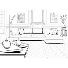 Top Interior Architecture Fesign Dream Homes Tips! Interior Architecture Drawing, Interior Design Renderings, Drawing Interior, Interior Rendering, Interior Sketch, Architecture Design, Classical Architecture, Room Perspective Drawing, Point Perspective