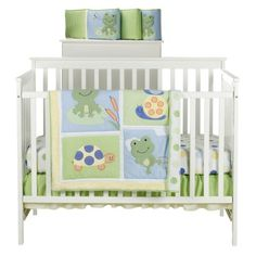 OMG this is my new favorite bedding set - so cute!!! At Target - Tiddliwinks Froggie 3-pc. Bed Set