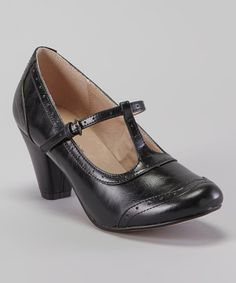 Look what I found on #zulily! Black Molly Pump by Chelsea Crew #zulilyfinds