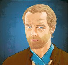 Ser Joras Mormont – geliebter Ritter im Grafik Stil