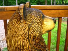 3-foot Brown Bear Chainsaw Wood Sculpture
