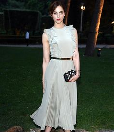 Italian actress Miriam Leone shimmers and shines in #FendPreFall16 at #AmericanAcademyinRome Gala.