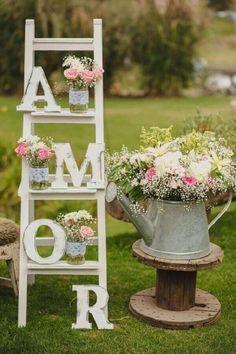 Outdoor Wedding Decorations, Bridal Shower Decorations, Wedding Centerpieces, Flower Centerpieces, Table Centerpieces, Chic Wedding, Rustic Wedding, Our Wedding, Wedding Ideas
