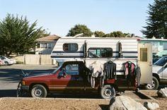 Toyota Truck and a Sixpack Camper